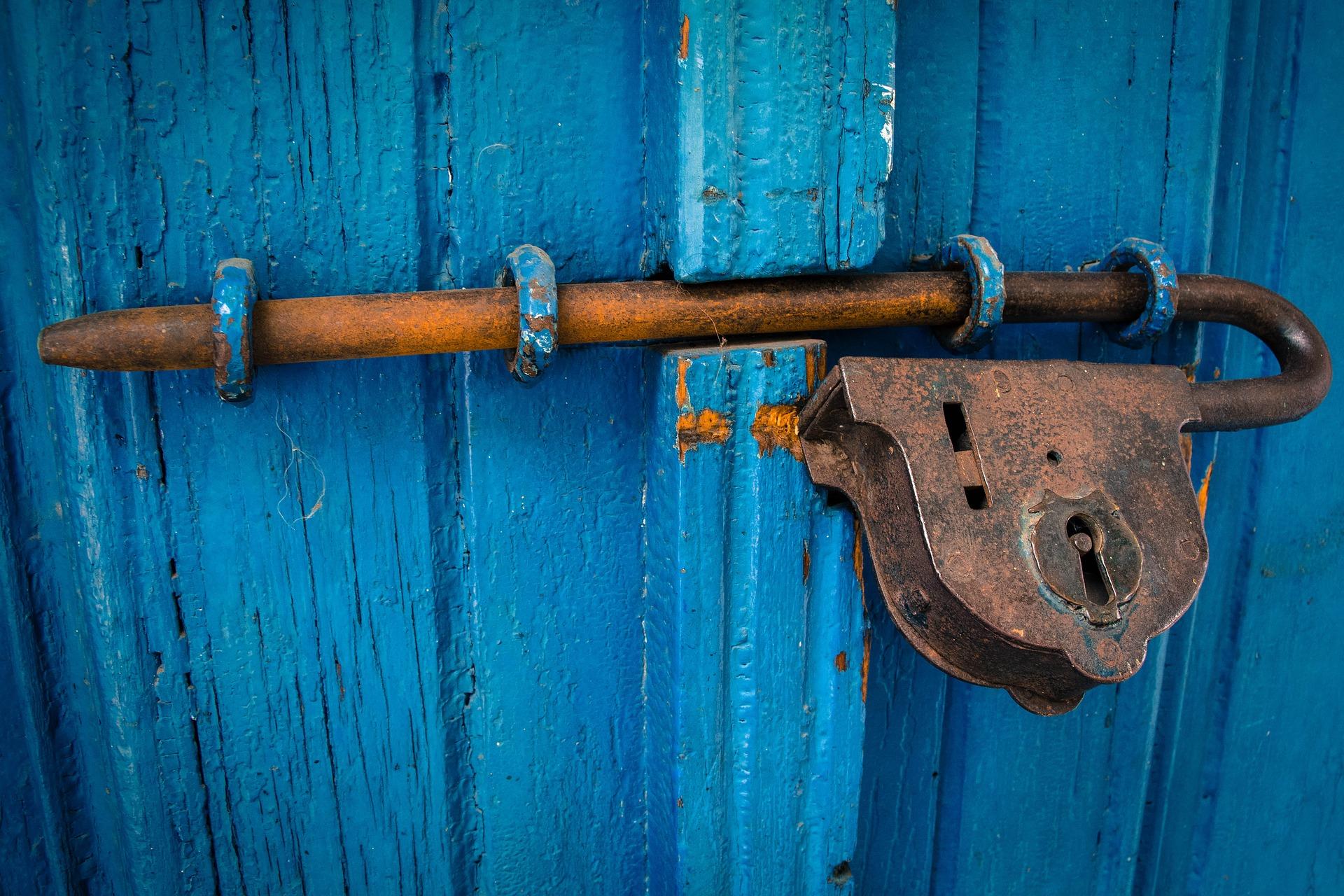 ruostunut lukko